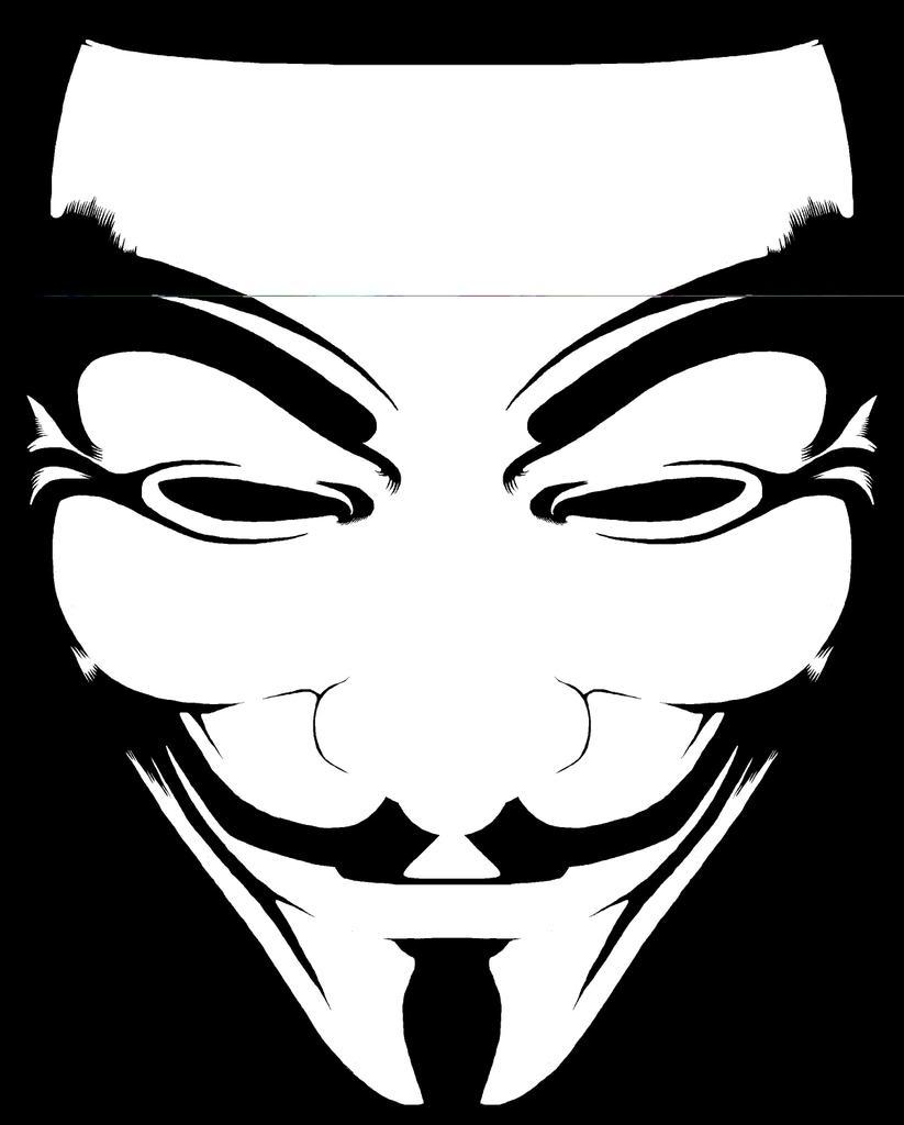 I NEED: B&W Line Art Fawkes Mask.