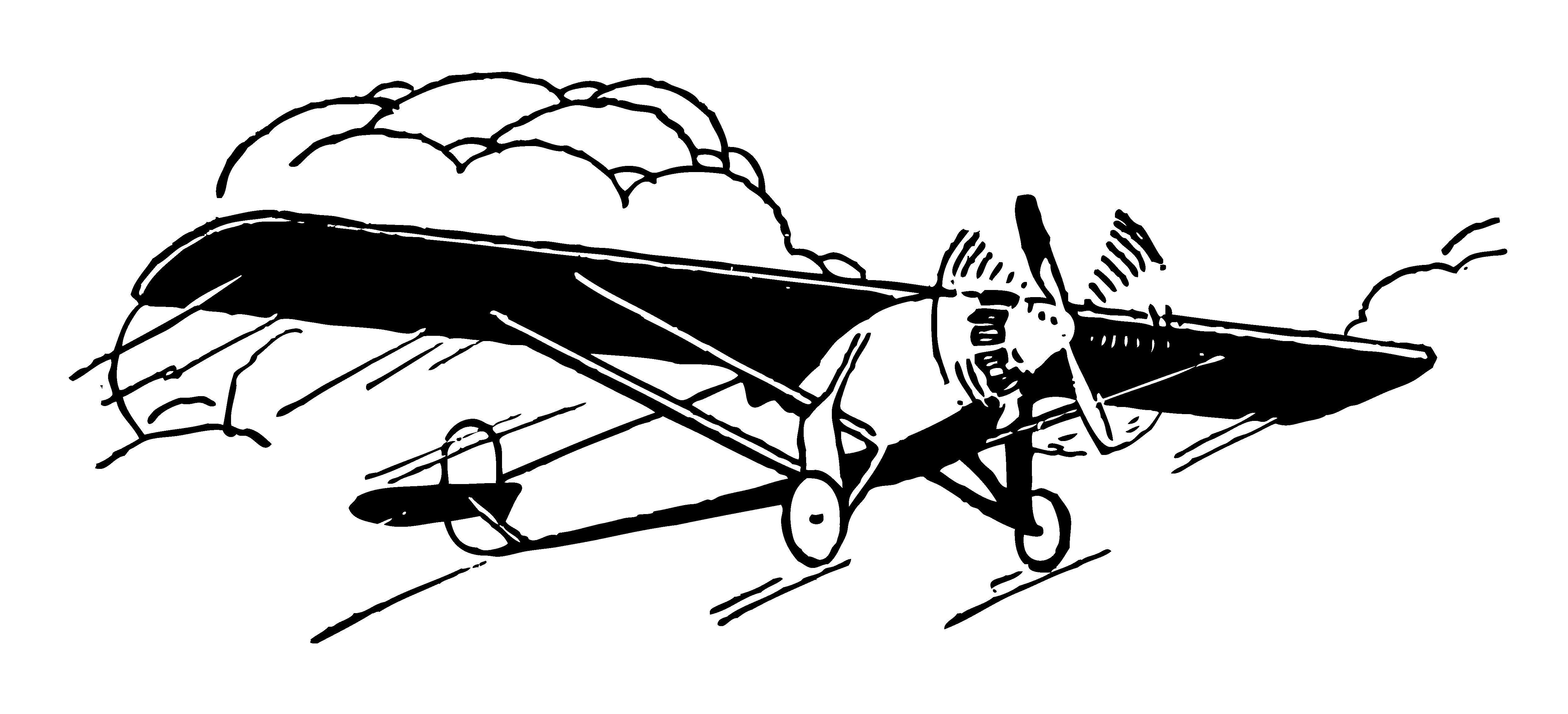 Vintage air plane clipart.