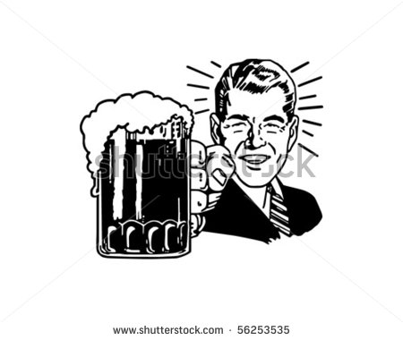 Man With Beer Clipart.