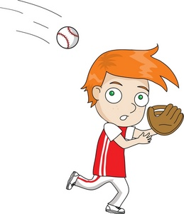 cartoon football player catching