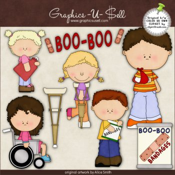 Boo Boo Bandages by Clipart 4 Resale.