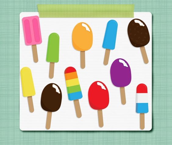 Ice Pop Clip Art Ice Cream Clipart Summer Clipart.