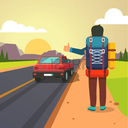517 Hitchhiking Stock Vector Illustration And Royalty Free.