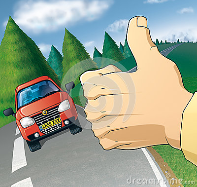 Hitchhiker Stock Illustrations.
