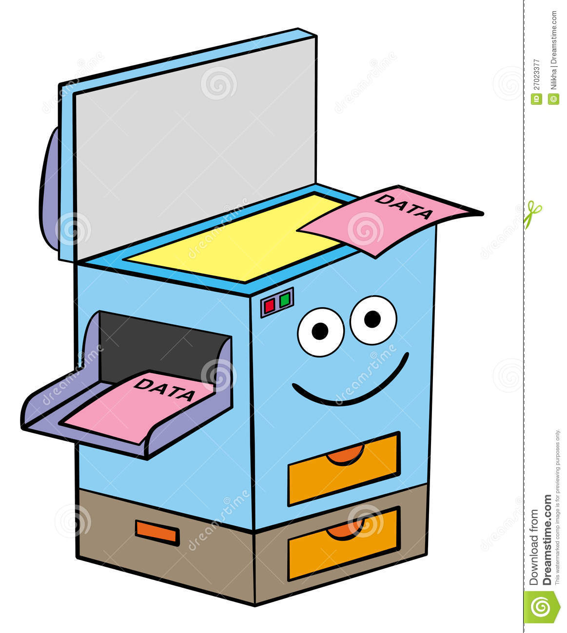 Broken Copy Machine Clipart.