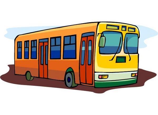 Public transportation clip art.