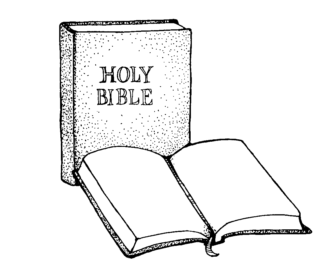 Scripture clipart clipground for Open bible coloring page