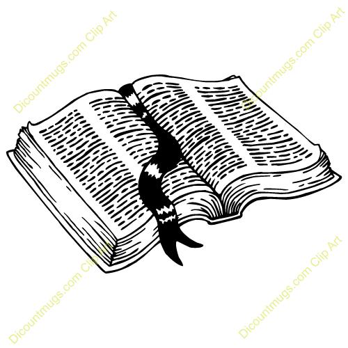 Open bible scripture clipart.