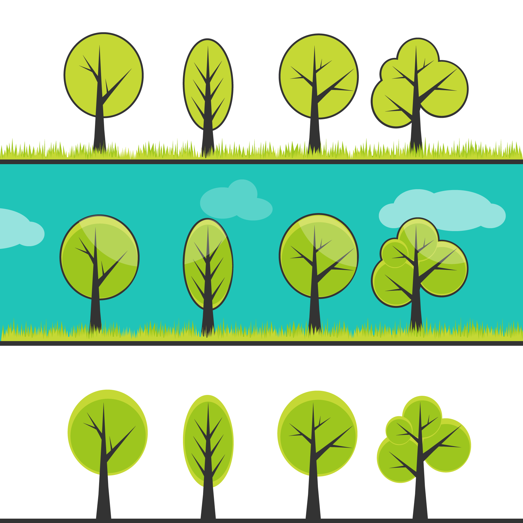 By trees limited clipart #2