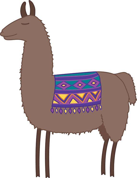 Llama Clipart Set, Hand Drawn Clip Art Illustrations of.