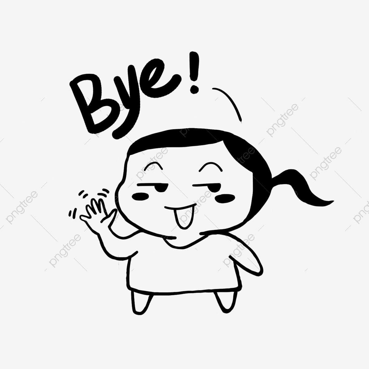 Goodbye Bye Bye Bye Lovely, Cartoon, Funny, Emoticon Package PNG.