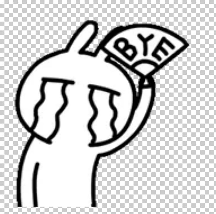 Tuzki Sticker Emoticon Facebook PNG, Clipart, Area, Black And White.