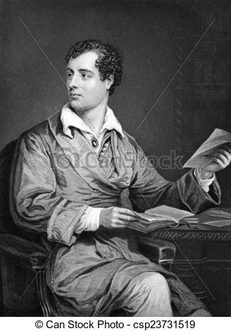 Clipart of Lord Byron (1788.