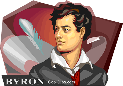 Lord Byron Royalty Free Vector Clip Art illustration.