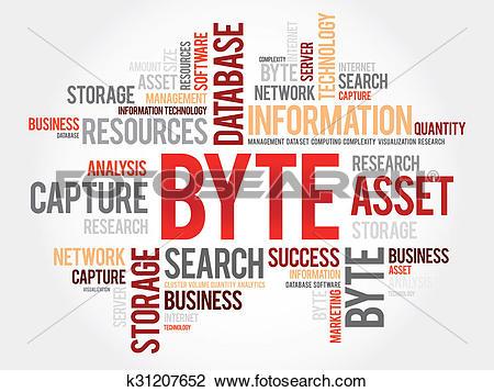 Clip Art of Byte word cloud k31207652.