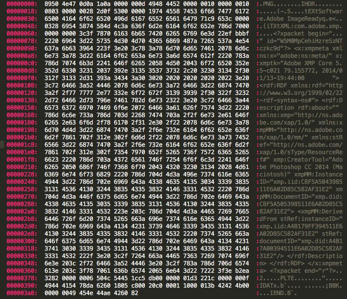 Hidden data in your image files.