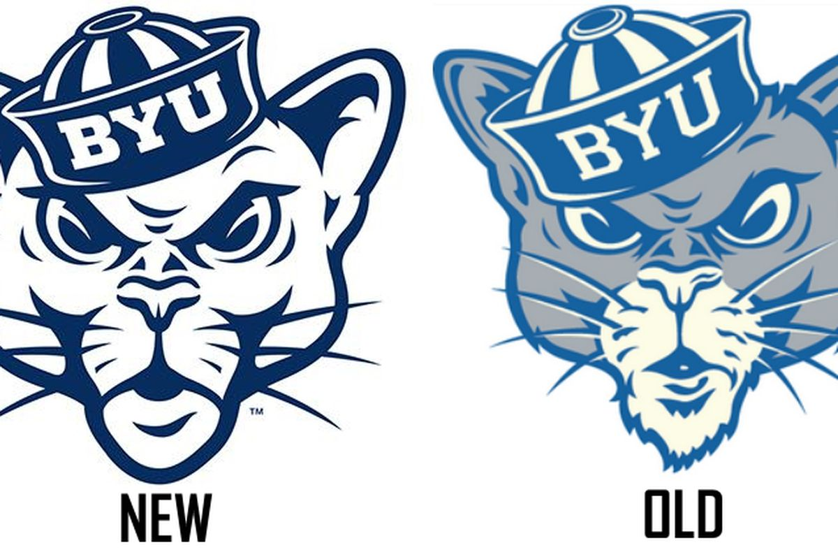 Updated \'Sailor Coug\' on tap as BYU secondary logo across.