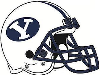 Amazon.com: 6 Inch BYU Logo Football Helmet Decal Brigham.