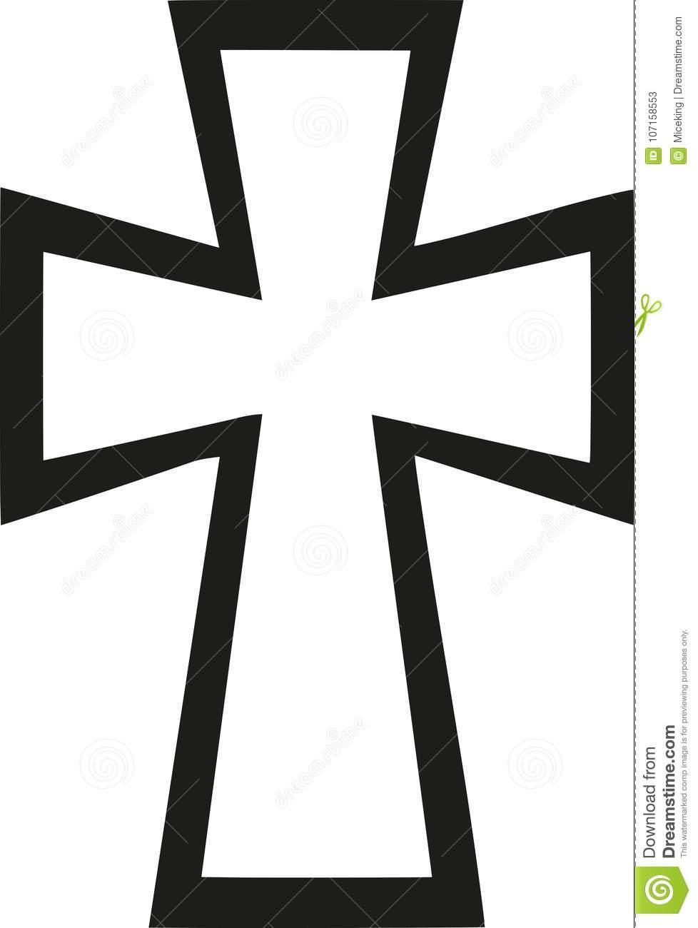 Byzantine Cross vector stock vector. Illustration of symbol.