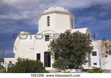 Stock Image of the byzantine museum; pyrgos, santorini island.