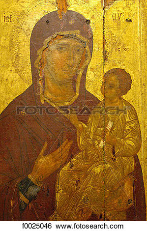 Stock Images of Cyprus, Nicosia, Byzantine museum, Madonna and.