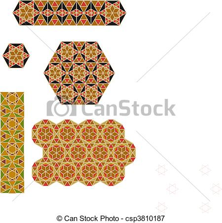 Vectors Illustration of byzantium mosaics.