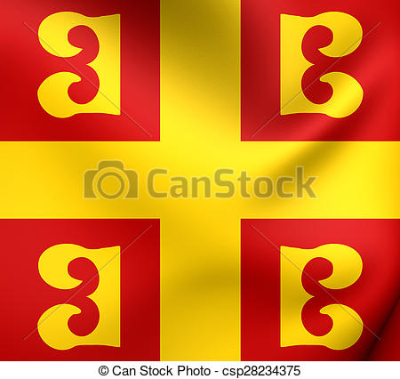 Stock Illustrations of Byzantine Empire Flag. Close Up.