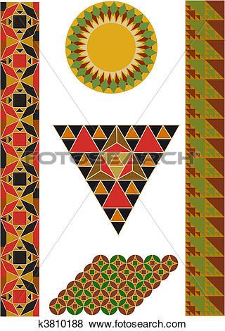Clip Art of byzantium mosaics k3810188.