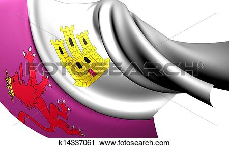 Clipart of Flag of Caceres Province, Spain. k14337061.