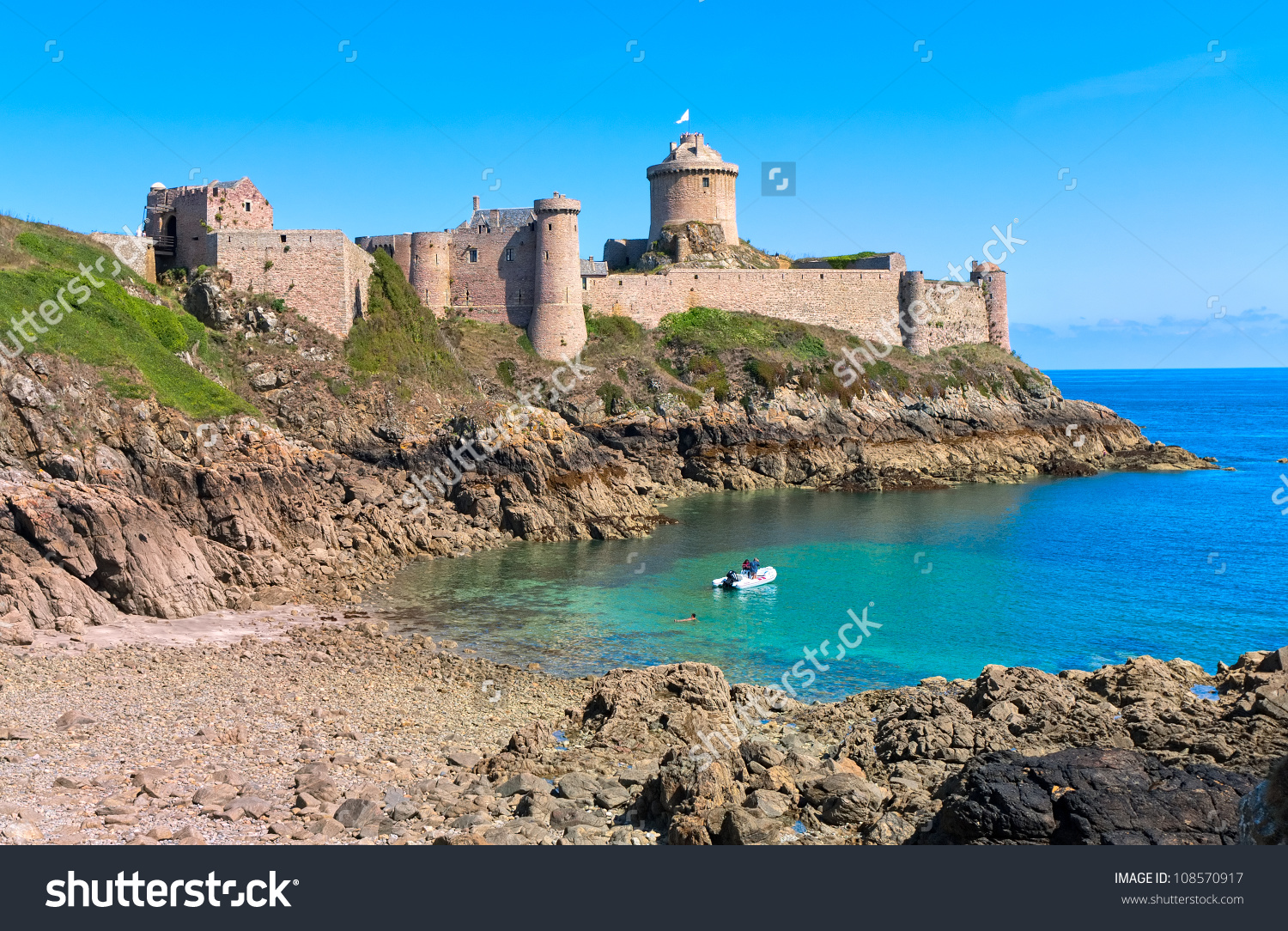 Fort La Latte On Cote De Stock Photo 108570917.