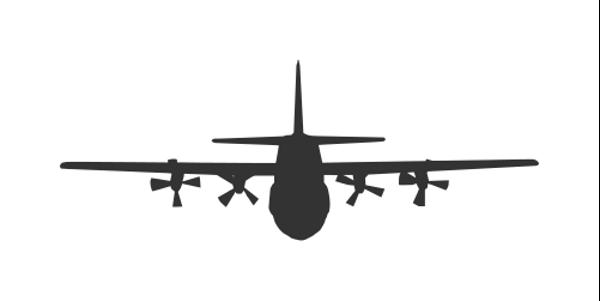 C130 Silhouette at GetDrawings.com.