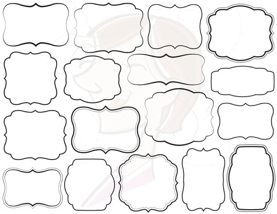 17 Digital Frames Clip Art Basic Simple Frames Clipart.