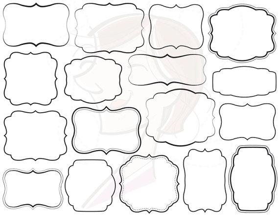 17 Digital Frames Clip Art Basic Simple Frames Clipart.