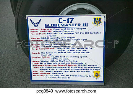 Stock Photograph of Display Placard for a C.