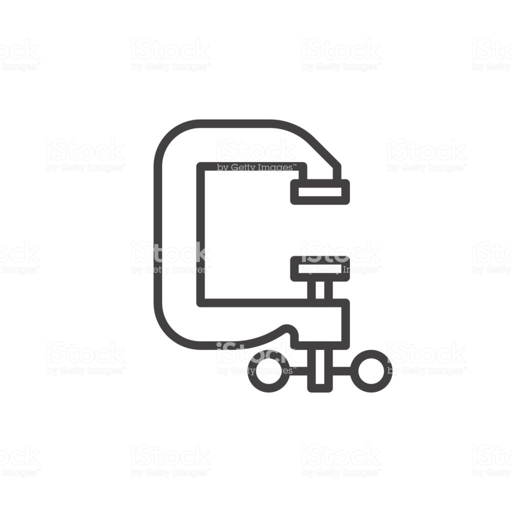 Cclamp Line Icon Outline Vector Sign Linear Style Pictogram Isolated On  White Symbol Icon Illustration Editable Stroke Stock Illustration.