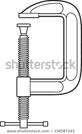 Vector Images, Illustrations and Cliparts: c clamp line art.
