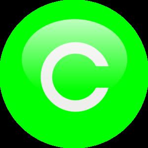 Green C Clip Art at Clker.com.