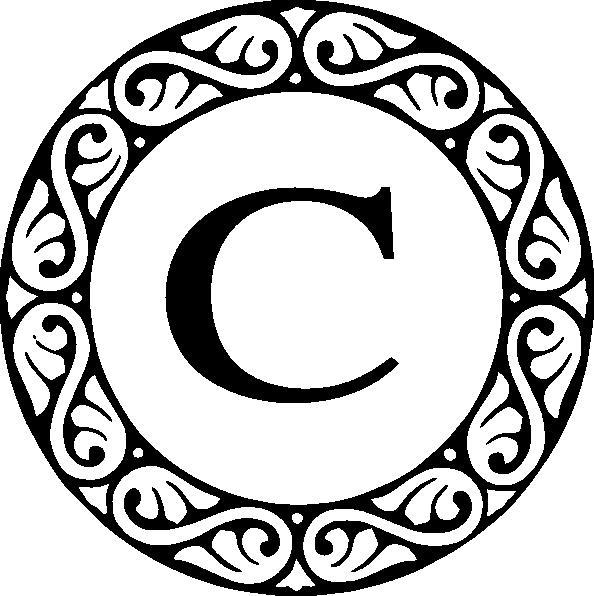 Monogram Letter C.