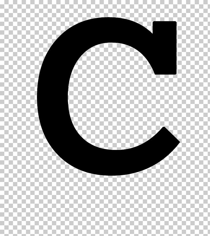 Black and white Brand Pattern, letter C PNG clipart.