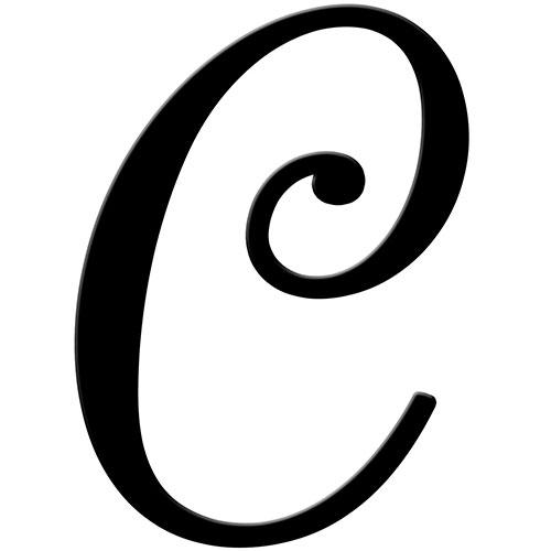 Fancy C Letter.