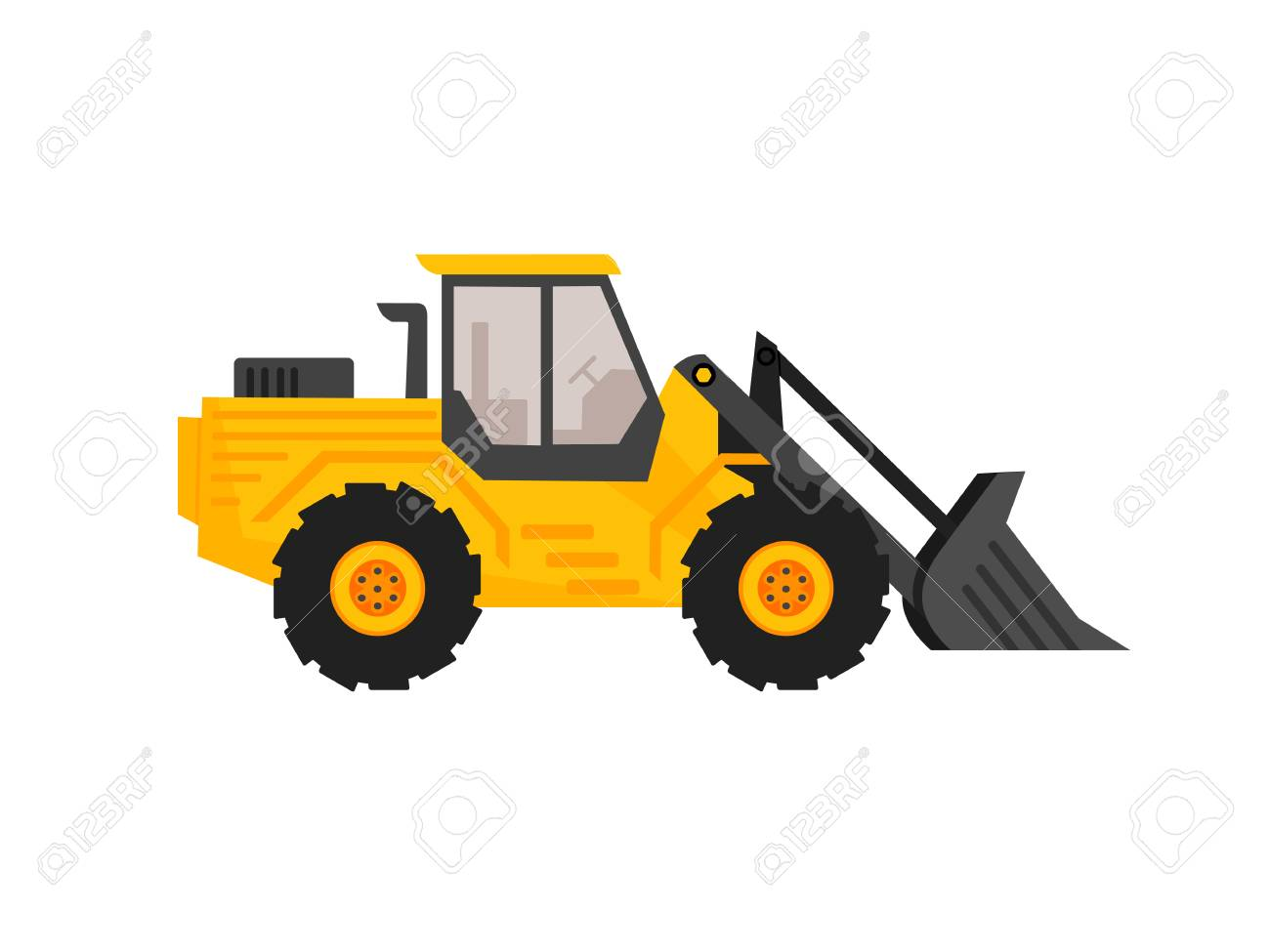 Front End Loader Clipart.
