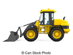 Wheel Loader Clipart.