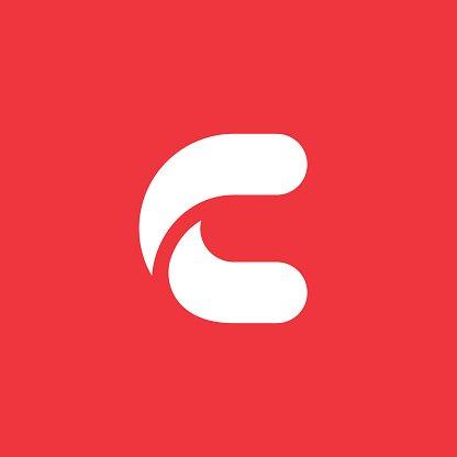 Letter C icon Clipart Image.