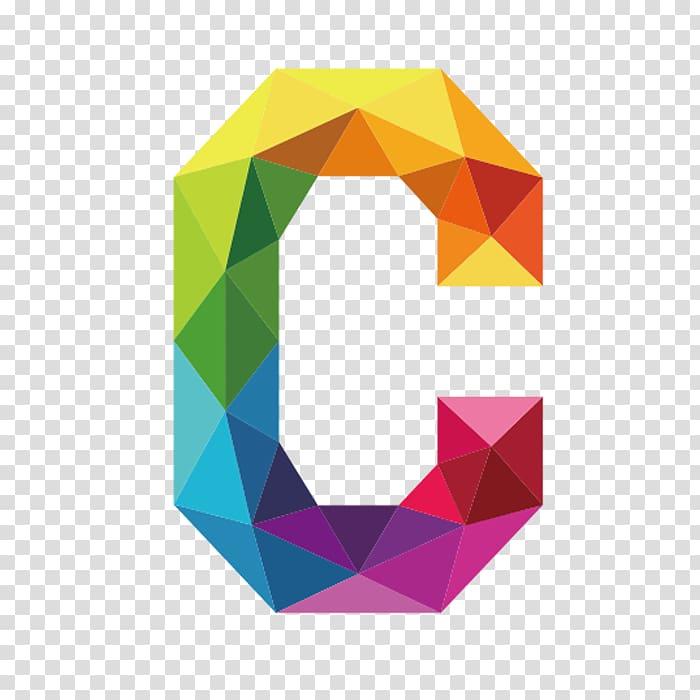 Multicolored letter C illustration, C Letter , Colorful.