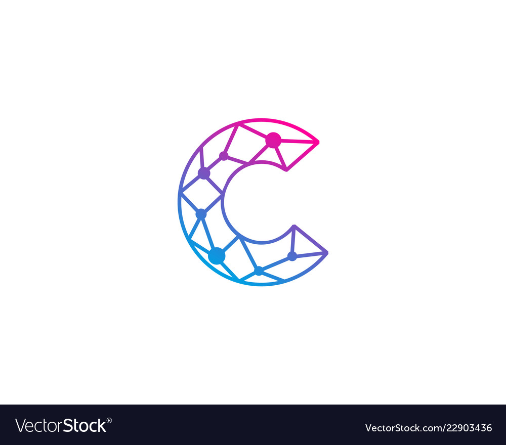 C letter network logo icon design.