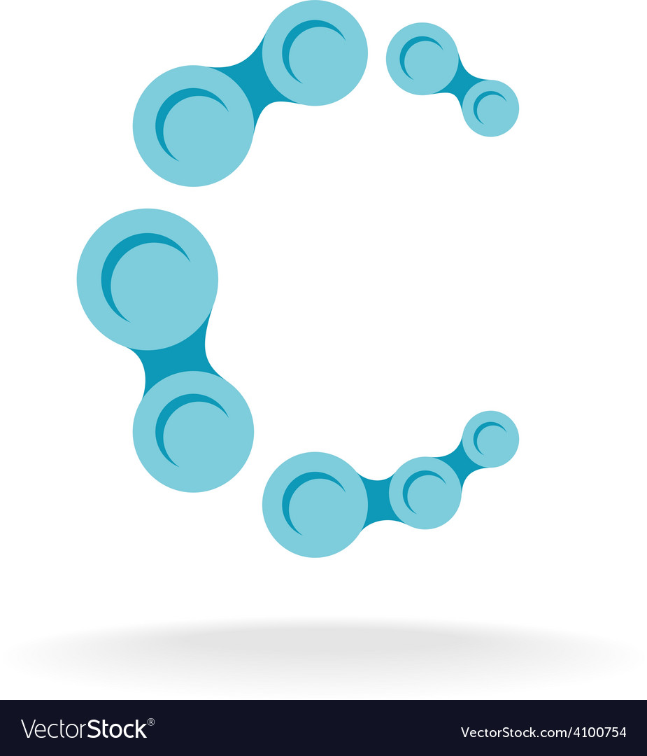 Letter C logo template Chain segments.