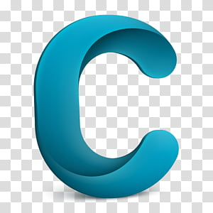 Office ICNS and ICO, blue letter C illustration transparent.