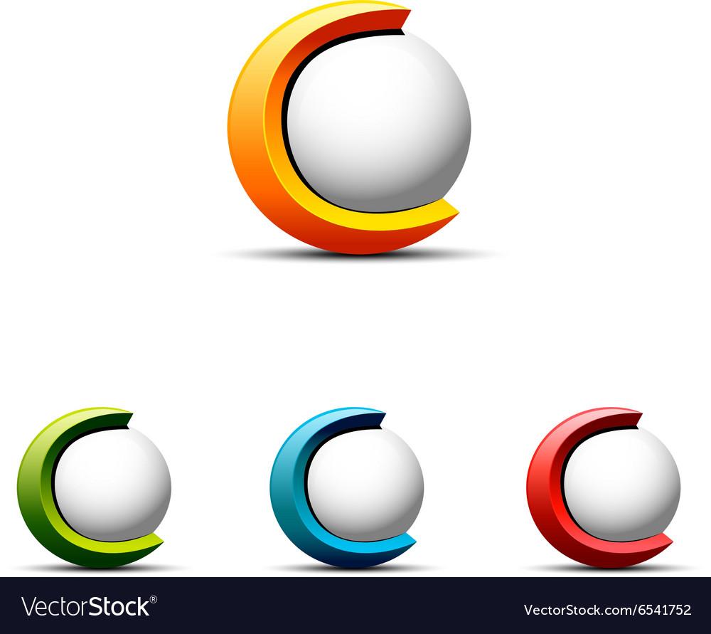 3d C Letter Logo.