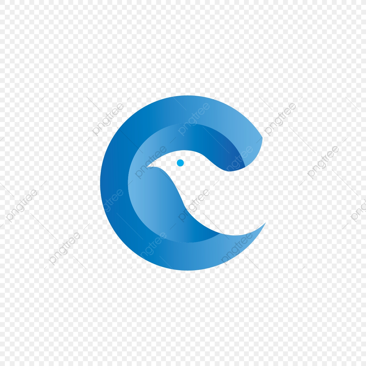 Letter C And Dove, C, Logo, Letter PNG and Vector with Transparent.