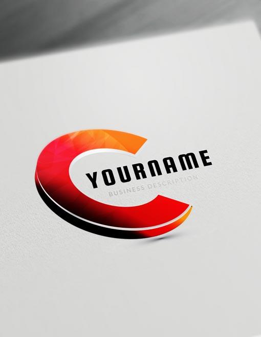 3D Logo Maker letter logo creator.